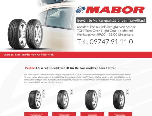 Der ideale Taxi-Reifen, inkl 3 Jahren Garantie – prüfen Sie selbst!